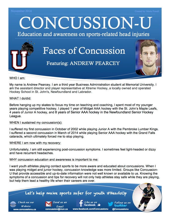 ConcussionU Blog Andrew Pearcey