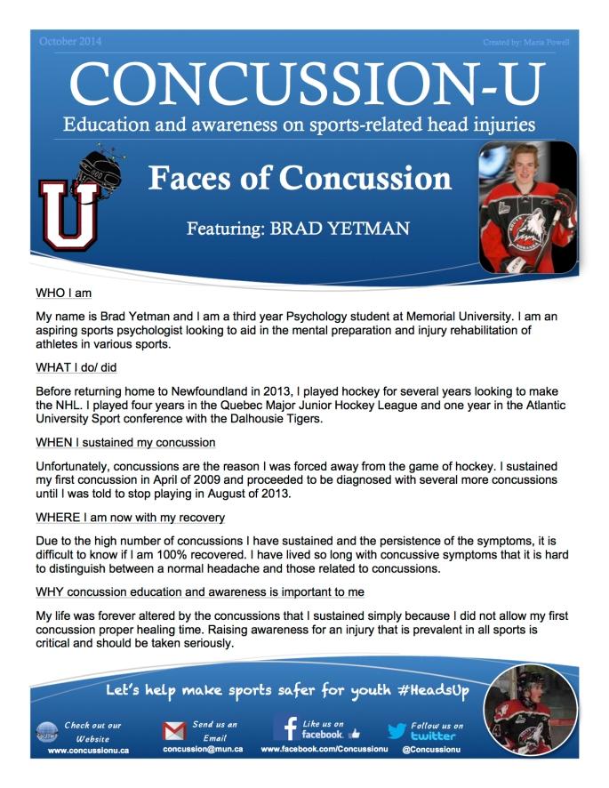 ConcussionU Blog Brad Yetman