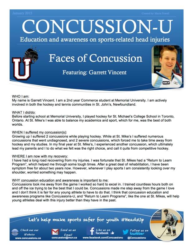 ConcussionU Blog Garrett Vincent