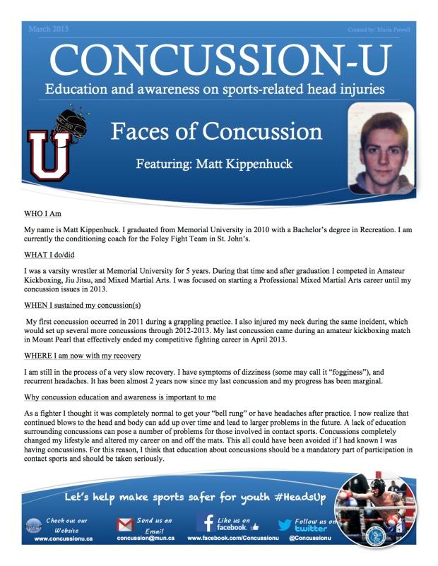 ConcussionU blog Matt Kippenhuck