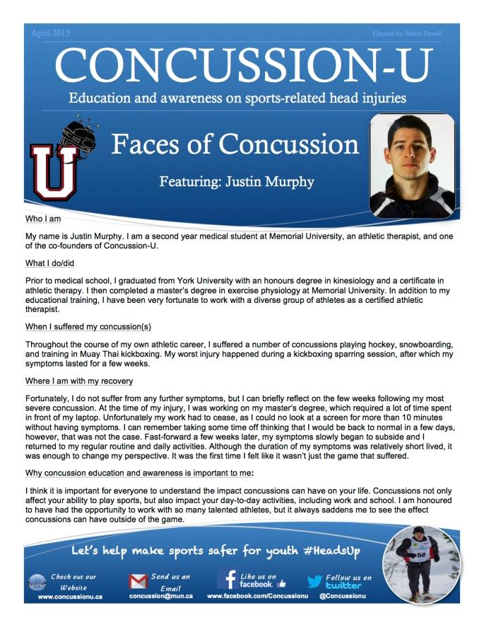 ConcussionU Blog Justin Murphy
