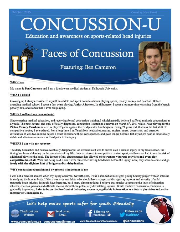 ConcussionU Blog Ben Cameron