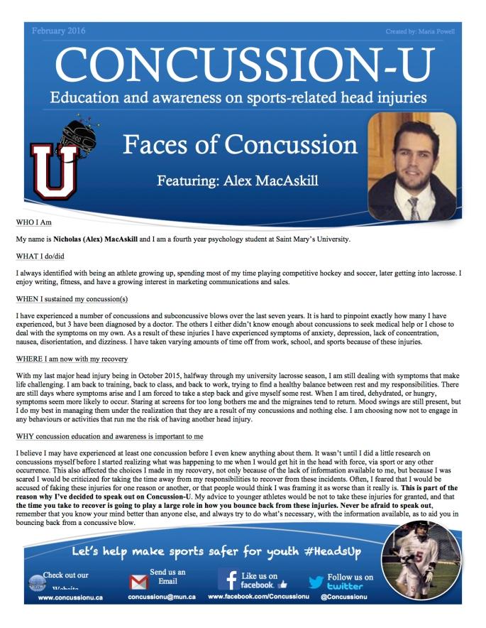 ConcussionU Blog Alex MacAskill